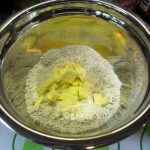 First rub the butter into flours & sugar.