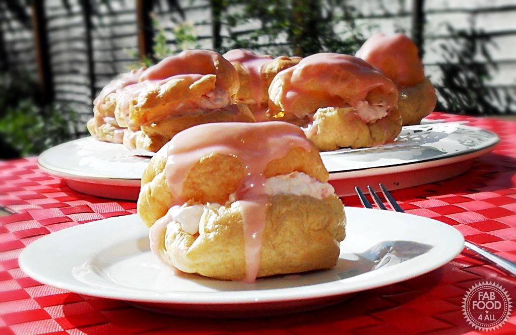 Strawberry Choux Buns - Fab Food 4 All