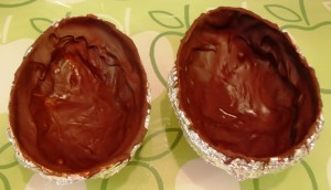 Chocolate Easter Eggs Drying