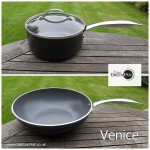 GreenPan Venice Wok and lIdded saucepan