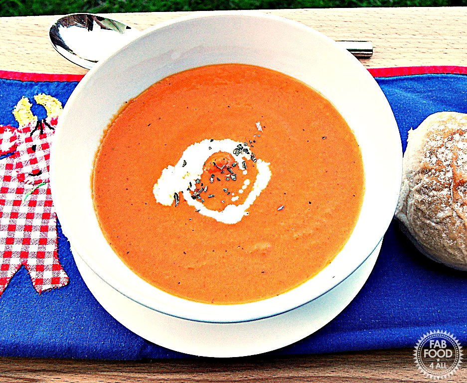 Cream of Tomato & Basil Soup - Fab Food 4 All