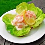 Egg & Prawn Open Sandwich with Lemon Mayoannaise - Fab Food 4 All