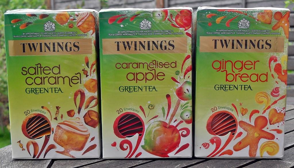 Caramelised Apple, Gingerbread, Salted Caramel, green tea
