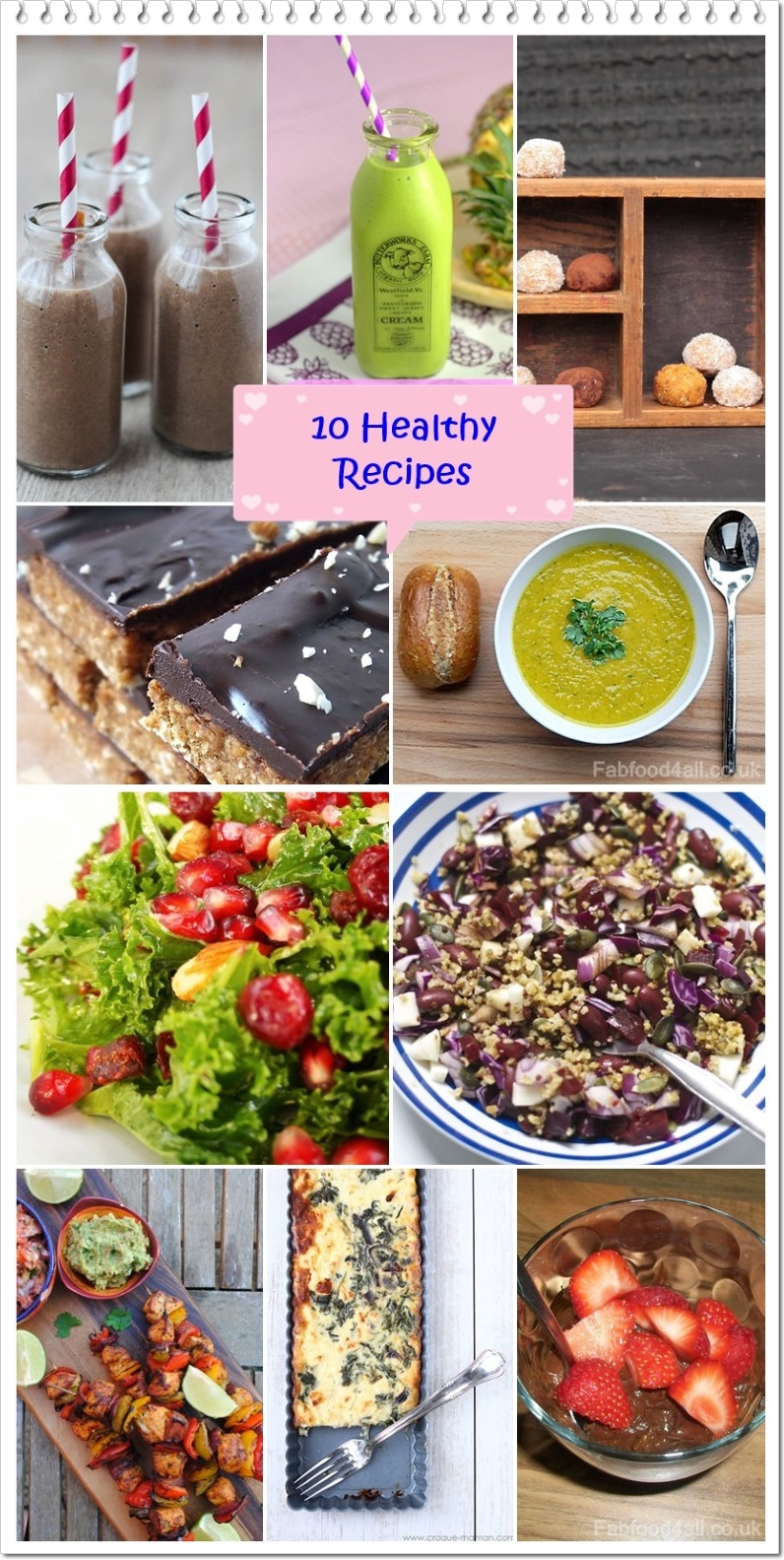 10 Healthy Recipes - @FabFood4All