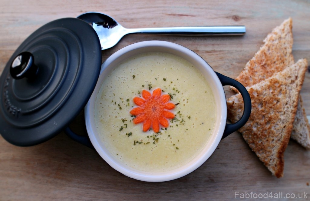 Cream of Leek, Potato and Carrot Soup, family friendly, healthy, nutritious, 5-a-day