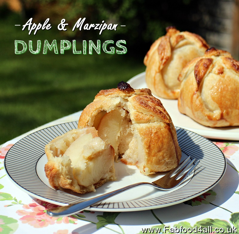 Apple & Marzipan Dumplings, puff pastry, homemade marzipan, pudding, dessert, recipe, old fashioned, apple purses, apples in eiderdowns, apples in pastry