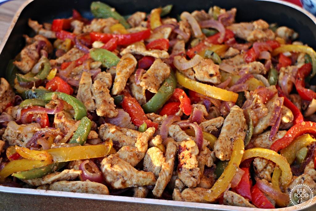 Cajun Chicken Fajitas - Fab Food 4 All