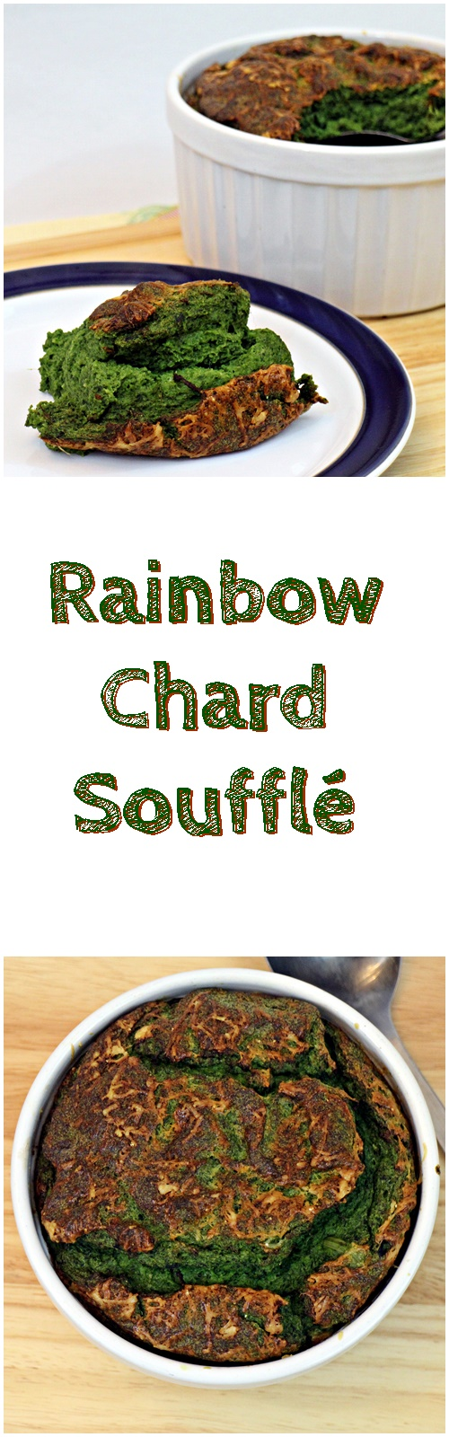Rainbow Chard Soufflé, cheesy and delicious! Fab Food 4 All