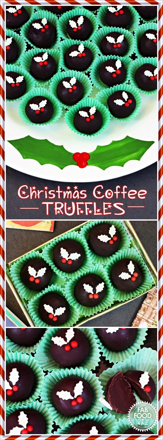 Christmas Coffee Truffles - Fab Food 4 All
