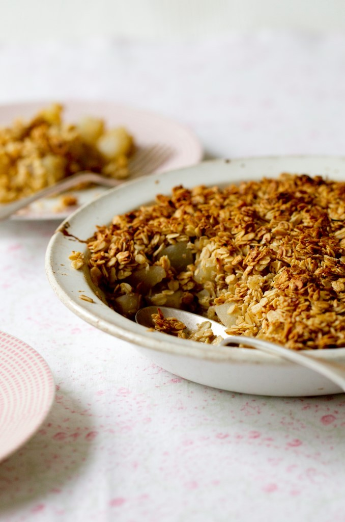 Pear Crisp from Hungry Healthy Happy