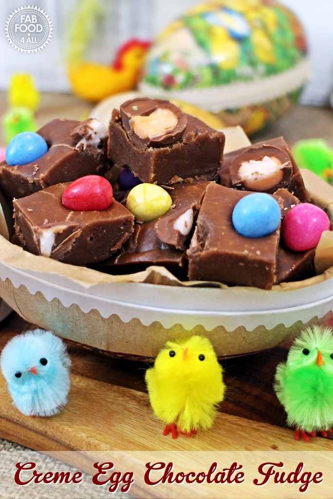 Creme Egg Chocolate Fudge - Fab Food 4 All