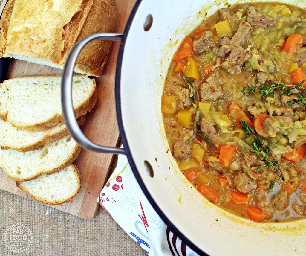 Lamb, Vegetable and Lentil Soup with Cabbage #LivePeasant - Fab Food 4 All