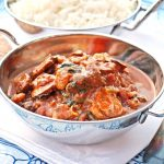 Simple Prawn, Mushroom and Spinach Curry
