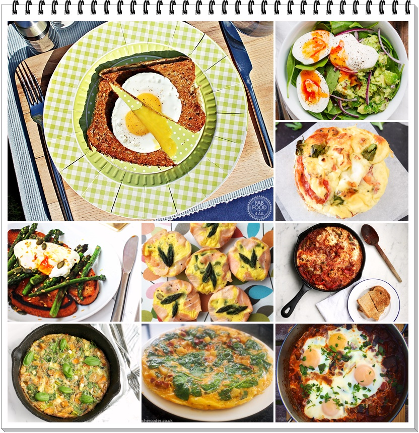 Veggie Frittata plus 9 quick & easy egg dishes - Fab Food 4 All