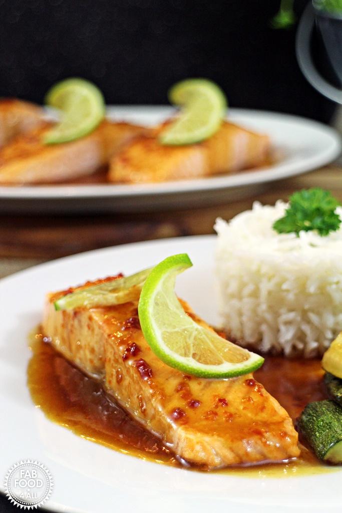 Grilled Salmon with Citrus Tamari Dressing – quick & healthy! #PowerofFrozen