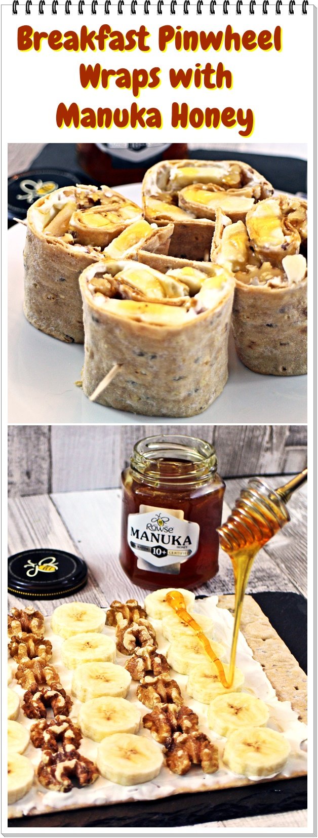 Breakfast Pinwheel Wraps with Manuka Honey - Fab Food 4 All