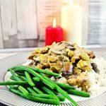 Chicken, Mushroom & Leeks in a Cream & White Wine Sauce - Fab Food 4 All
