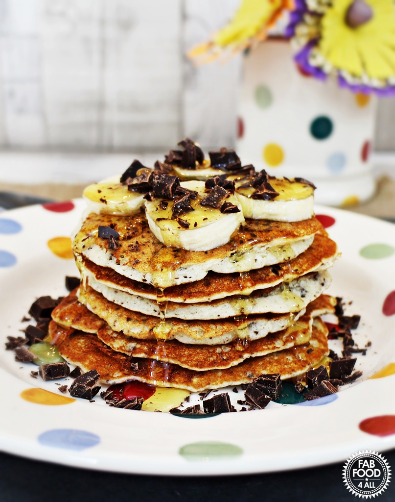 Gluten Free Chocolate Chip Pancakes - Fab Food 4 All