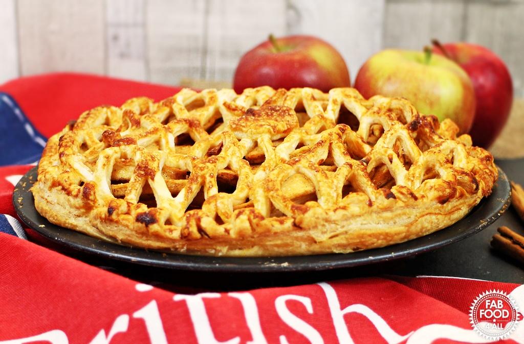 Spiced Apple Lattice Pie #BritishPieWeek - Fab Food 4 All