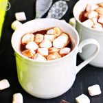 Boozy Hot Chocolate with Baileys Chocolat Luxe & Marshamallows, espresso cups