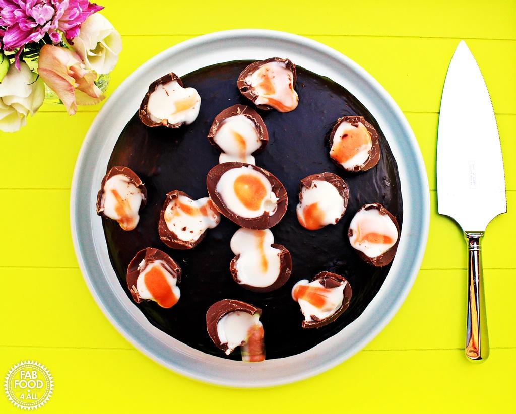 Creme Egg Chocolate Cake, so moist & delicious! @FabFood4All