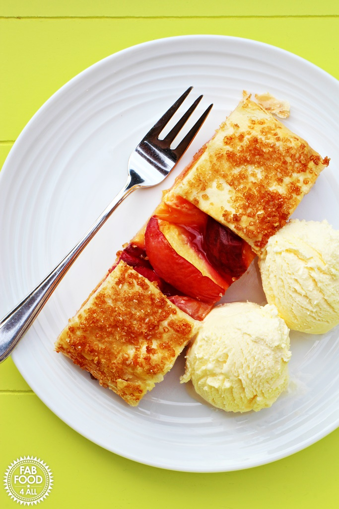Cheat's Low Fat Peach Galette @FabFood4All