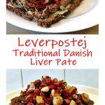 Leverpostej - Traditional Danish Liver Pate Pinterest image.