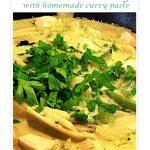 Thai Green Chicken Curry Pinterest image.