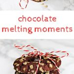 Chocolate Melting Moments, delicious crumbly chocolate cookies that melt in the mouth. Fab Food 4 All