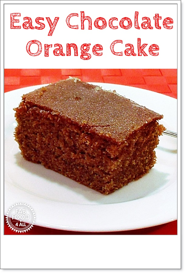 Easy Chocolate Orange Cake - all in one method! #Cake #CakeRecipes #ChocolateOrange #ChocolateOrangeCake #All-in-One-Method #EasyCakeRecipes #EasyRecipe #OrangeCake