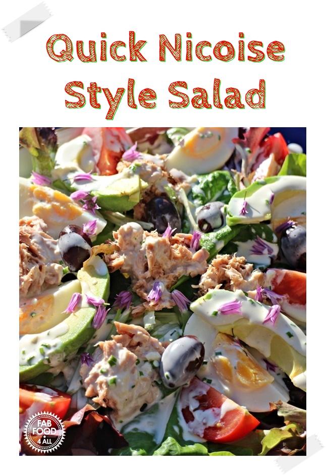 Quick Nicoise Style Salad Pinterest Image