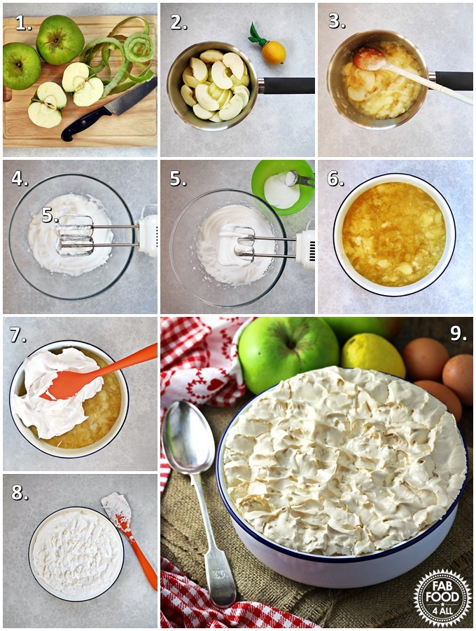 Apple Meringue step-by-step shots.
