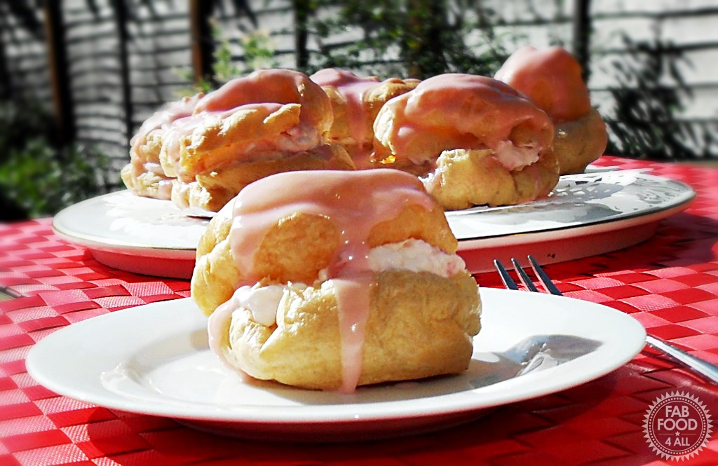 Strawberry Choux Buns - Fab Food 4 All