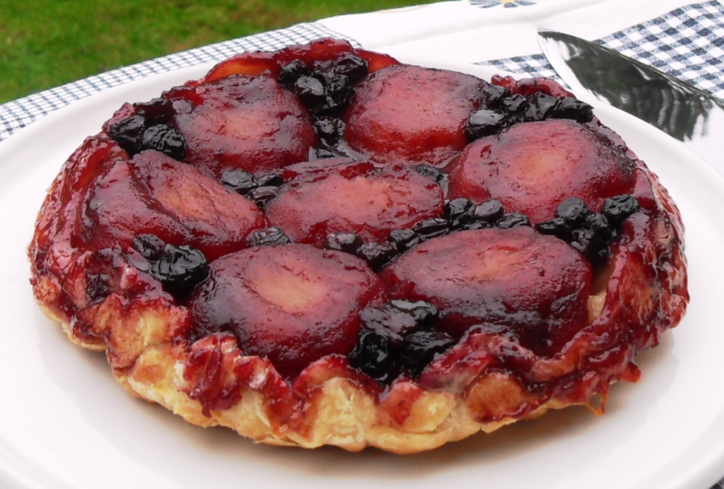 Easy, Apple & Blueberry Tarte Tatin, pudding, dessert