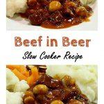 Beef in Beer - Pinterest image.