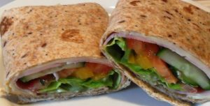 A wrap with Blushed Tomatoe Mayonnaise