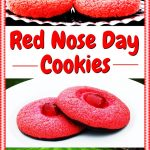 Red Nose Day Cookies Pinterest image.