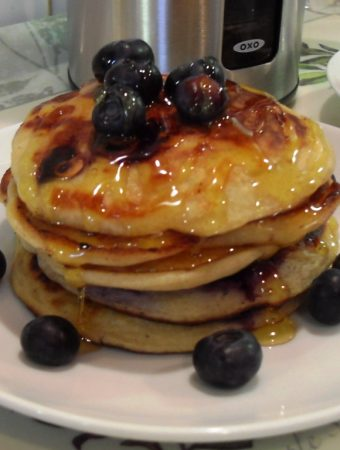 Blueberry & Banana Pancakes (American Style) + Oxo Good Grips Review
