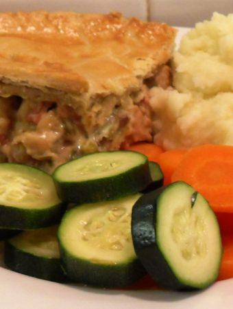 Turkey, Bacon & Leek Pie