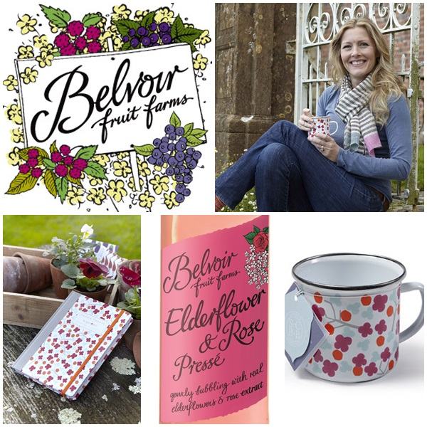 Belvoir Fruit Farms drinks, Sophie Conran Journal & Mug
