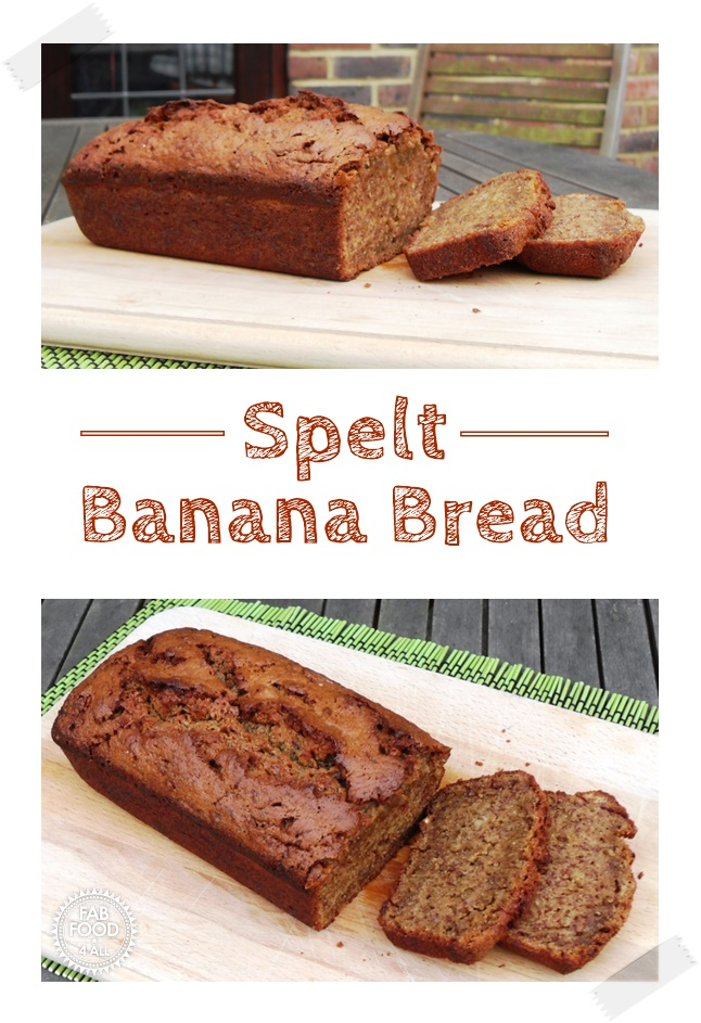 Spelt Banana Bread from Sophie Dahl - the most delicious banana bread I've ever had! Fabulously easy 1 stage method! #banana #bananabread #bananacake #bananarecipes #SophieDahl #cake #baking #cakerecipe #onestagecake