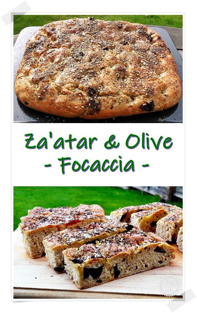 Za'atar & Olive Focaccia Pinterest image
