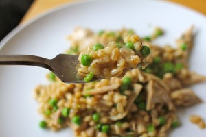 Chicken and Pea Orzotto