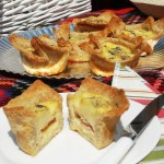 Picnic food, Cross between Croque Monsieur and Quiche Lorraine