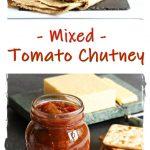 Mixed Tomato Chutney Pinterest image.