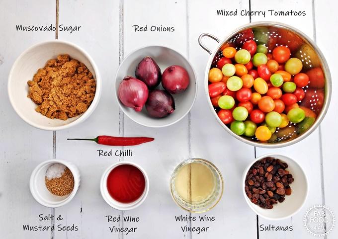 Ingredients for Tomato Chutney