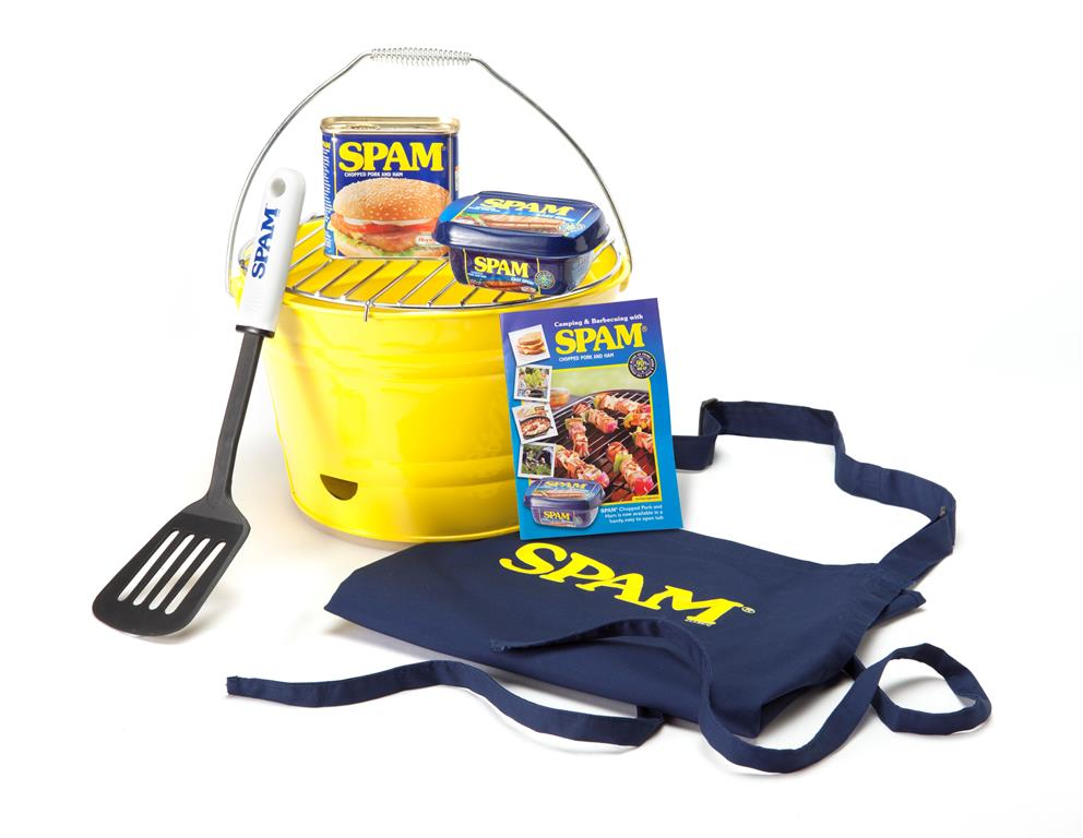 SPAM BBQ merchandise with leaflet Tub & Tin (Custom)