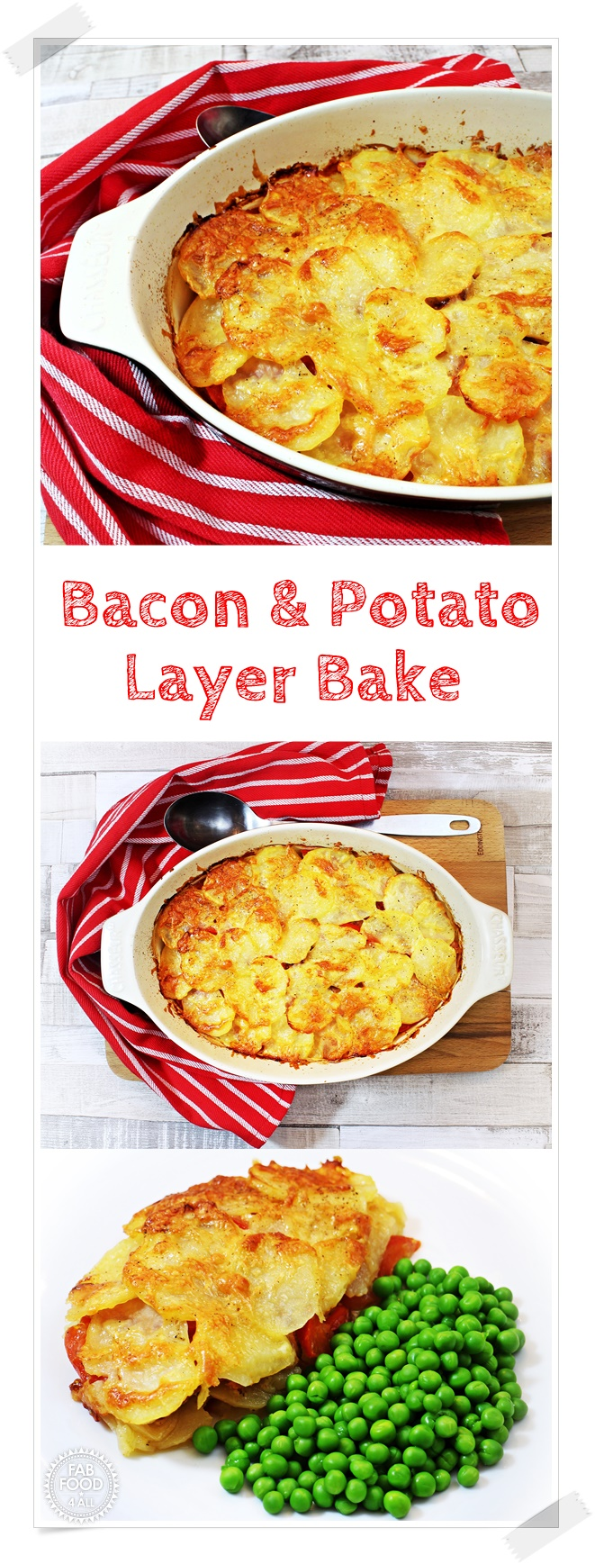 Bacon & Potato Layer Bake - Fab Food 4 All