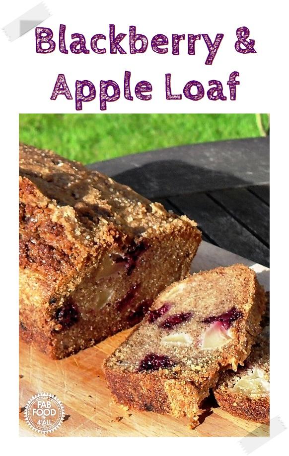 Blackberry and Apple Loaf Pinterest image.