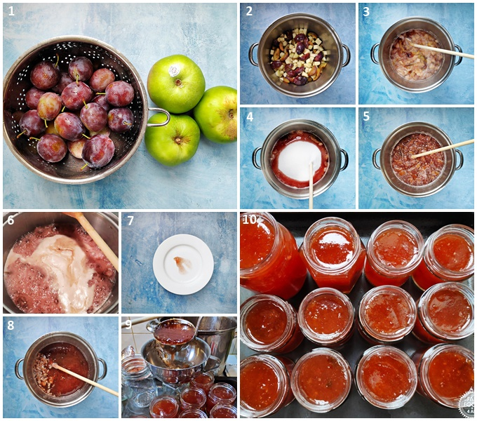 Plum & Apple Jam - step-by-step guide.
